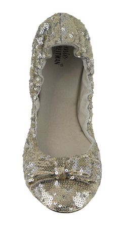 Womens Sequin Shoes - Sequins Ballet Flats