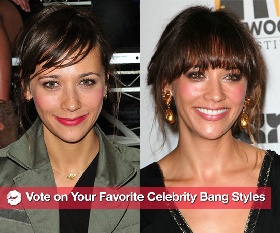 Side-Swept or Blunt? Vote on Your Favorite Celebrity Bang Styles