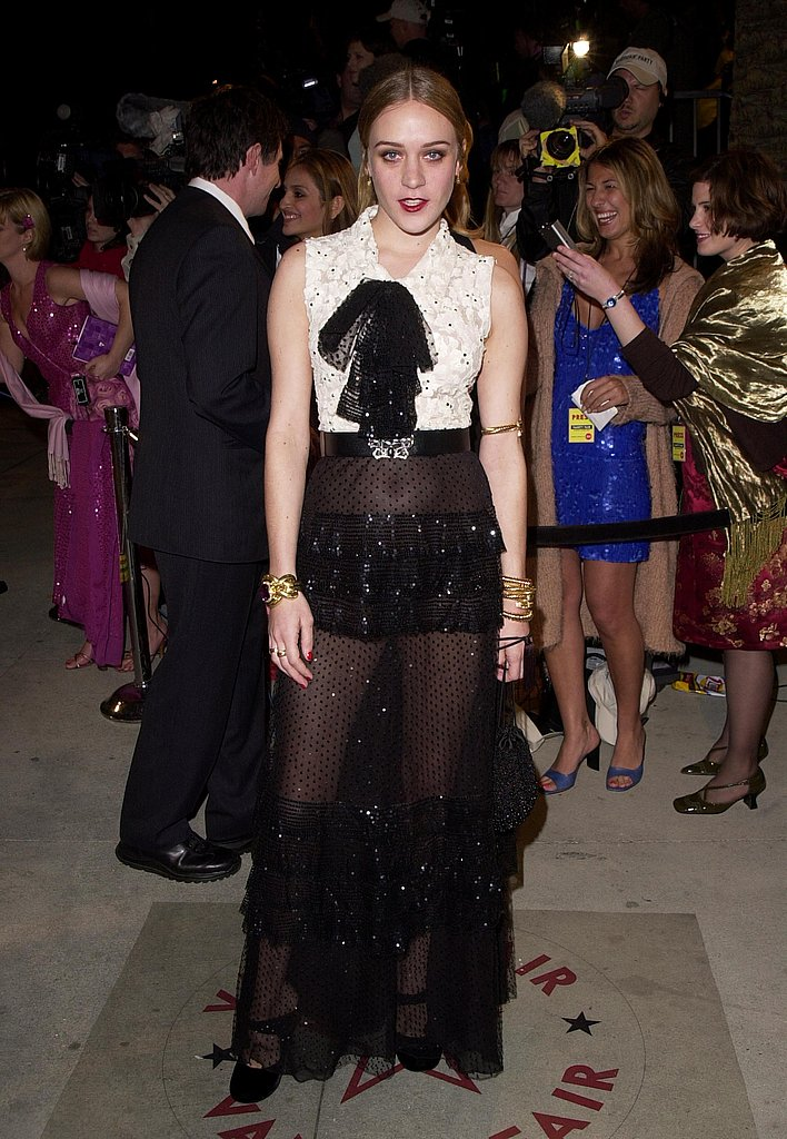 Going sheer at the Vanity Fair Oscar fete in 2001.