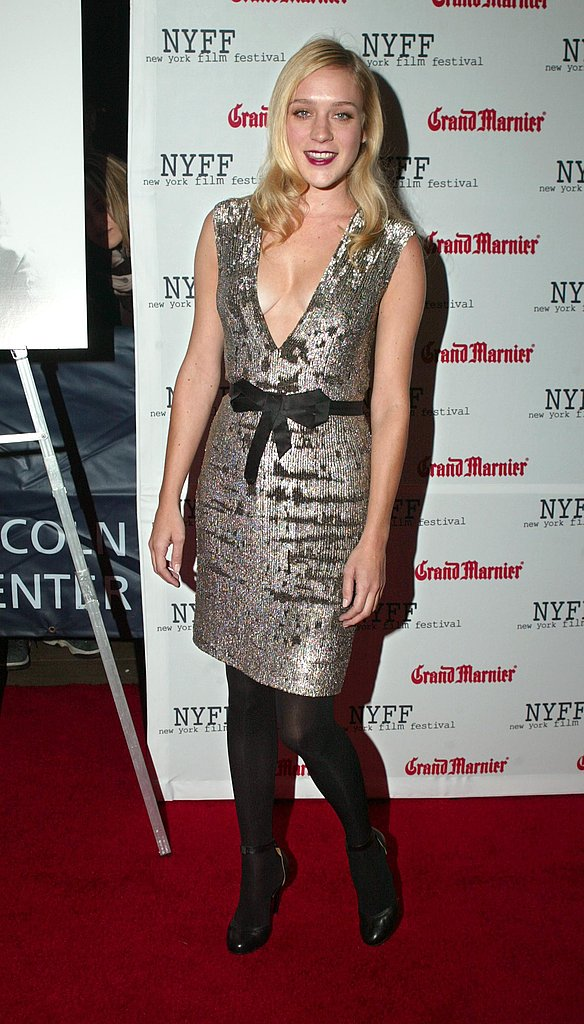 Shimmering in a sequined sheath at the NY Film Festival in Oct. '03.