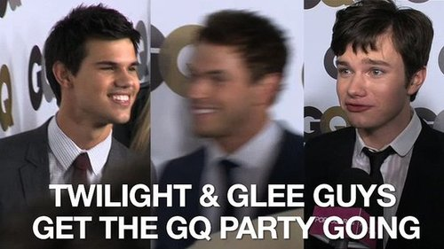 Video of Taylor Lautner, Kellan Lutz, James Franco, James Marsden, Chris Colfer at the GQ Men of the Year Party