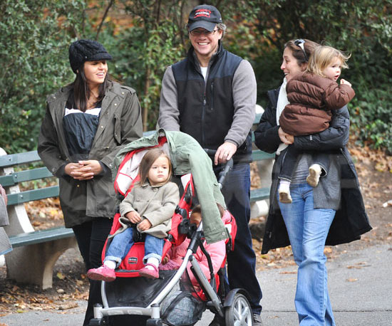Matt Damon Being a Family Man