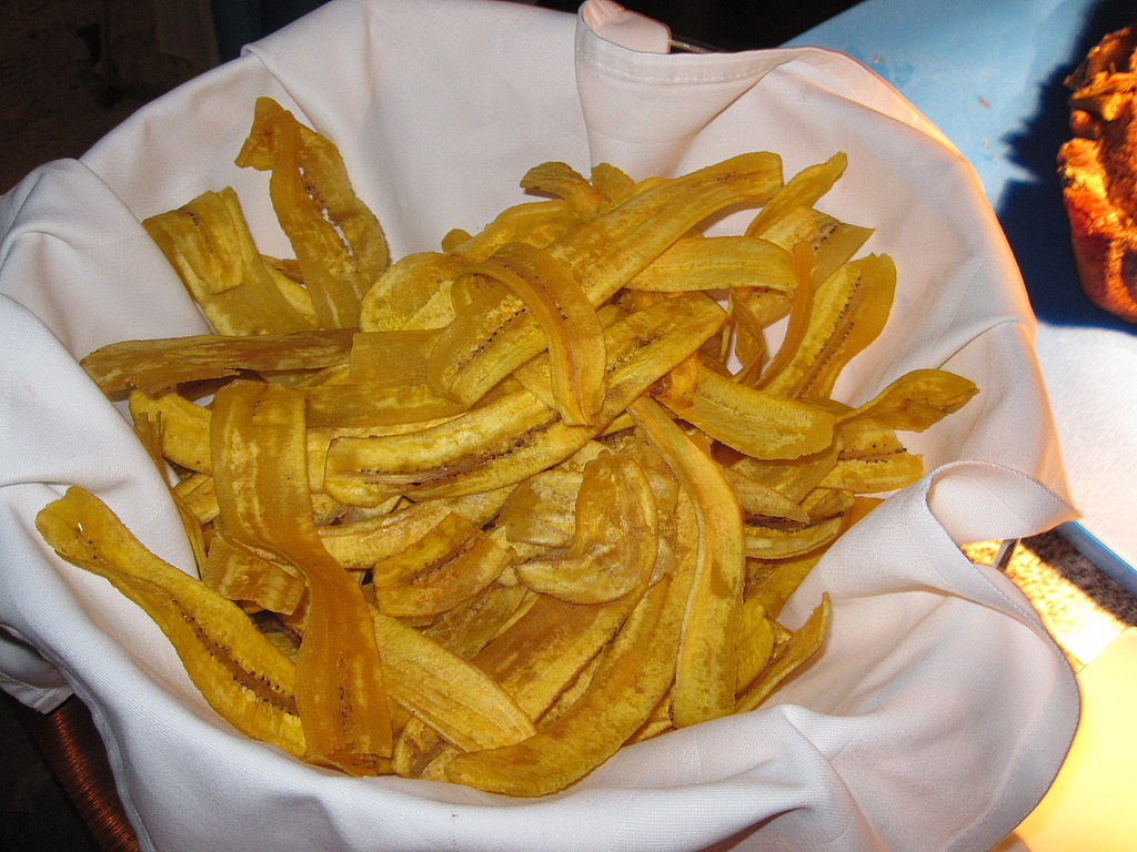 I could not get enough of these crunchy and salty plantain chips.