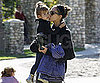 Slide Picture of Jessica Alba and Honor Warren Leaving a Park in LA
