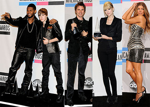 Pictures of Justin Bieber, Jessica Alba, Usher, Taylor Swift, Michael Buble at the AMAs Press Room
