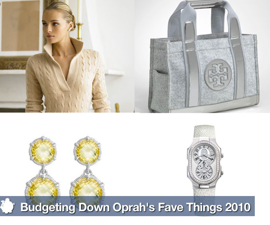Savvy Gift Guide: Budgeting Down Oprah's Fave Things 2010