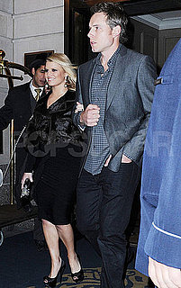 Pictures of Jessica Simpson and Eric Johnson Leaving NYC Hotel 2010-11-24 06:15:00
