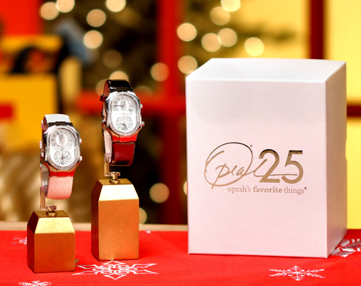 "To commemorate her 25th season, Oprah gave everyone in her audience a limited-edition Philip Stein ""Oprah"" watch ($2,475). Now you can tell time, just like Oprah!"