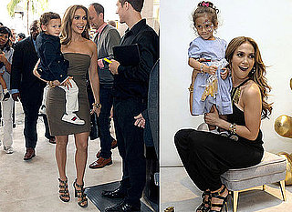 Jennifer Lopez With Twins Max and Emme Anthony at a Gucci Children's Collection Event in LA