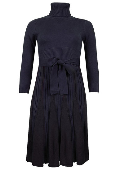 Jessica Howard Navy Sweater Dress