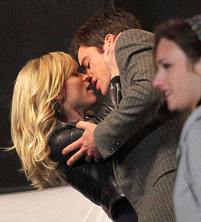 Pictures of Reese Witherspoon Filming This Means War With Chris Pine and Tom Hardy