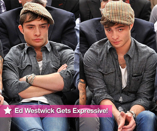 Pictures of Gossip Girl's Ed Westwick at a Basketball Game