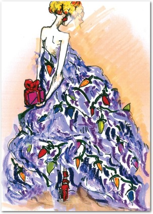 Zac Posen Holiday Card