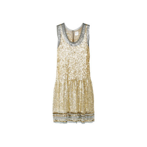 Sequined Tank Dress, approx $695, Red Valentino from Net-a-Porter