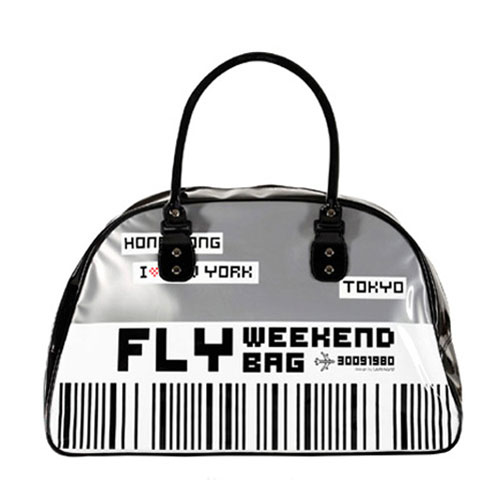 Weekend Fly Bag in Grey, $59 from French Bazaar