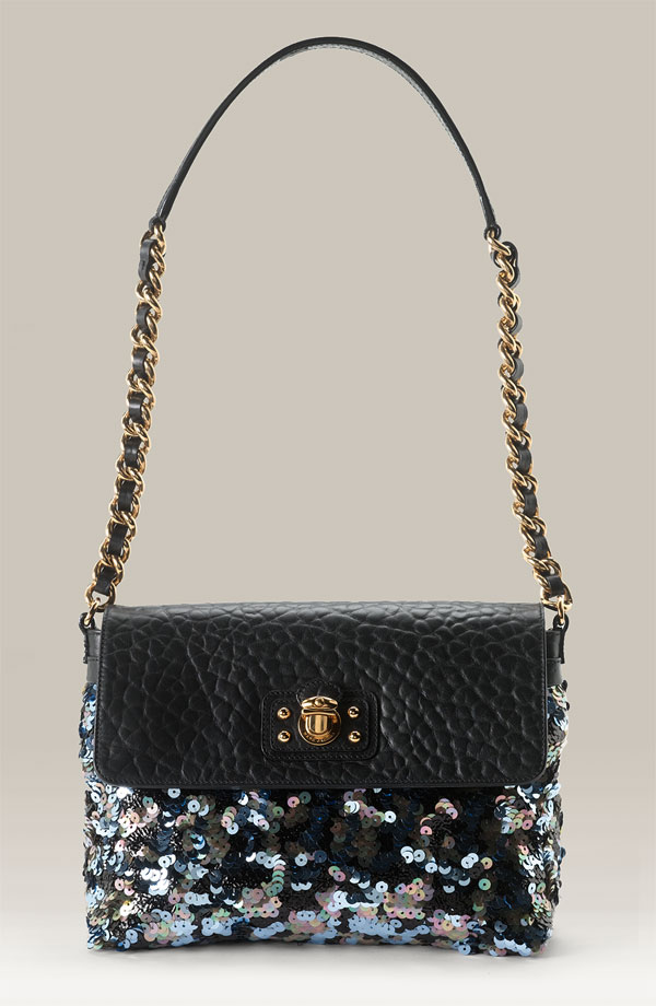 Marc Jacobs Large Tweed Sequin Messenger Bag ($995)
