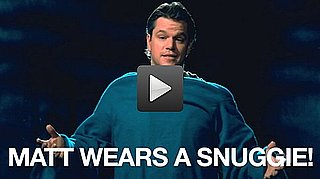 Matt Damon Wears a Snuggie