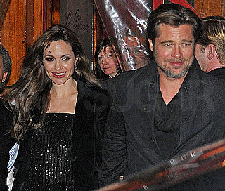 Pictures of Brad Pitt and Angelina Jolie Out to Dinner in Paris