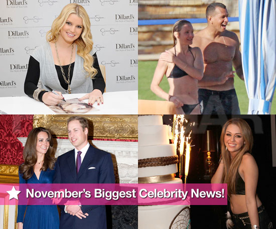 Jessica and William's Engagements, Cameron's Bikini Romance, and Miley's Birthday Makeout: November's Biggest Celebrity News!