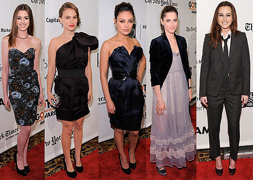 Pictures of Anne Hathaway, Winona Ryder, Jesse Eisenberg, Leighton Meester, and Natalie Portman at Gotham Awards