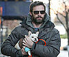 Slide Picture of Hugh Jackman and Puppy in New York