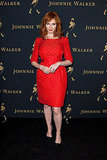 Christina Hendricks in a classic and completely eye-catching, red-hot sheath
