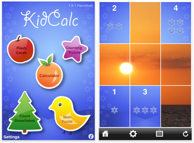 KidCalc Hanukkah Math Fun