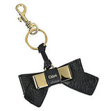 Lily Bow Leather Key Fob