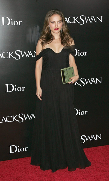 Natalie Portman's Black Swan premiere Christian Dior gown was pure perfection — and her Olympia Le-Tan box clutch was a unique touch.