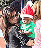 Pictures of Sandra Bullock and Baby Louis in a Santa Hat