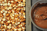 12 Days of Edible Gifts: Chocolate and Caramel Popcorn with Macadamia Nuts