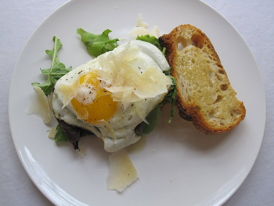 Open-Faced Egg Sandwich