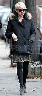 Pictures of Michelle Williams Walking Around Brooklyn