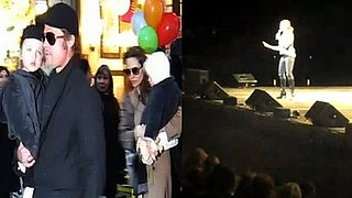 Video of Brad Pitt and Angelina Jolie With the Twins in New York and Chelsea Handler Talking About Angelina Jolie 2010-12-06 09:33:48
