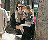 Slide Picture of Jennifer Garner and Seraphina in LA