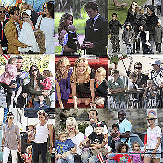 Pictures of Celebrity Families Including Jolie-Pitts, Cruises, Beckhams, and More