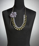 Rhinestone Chain Flower Necklace