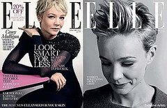 Carey Mulligan covers Elle UK-january 2011