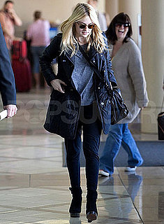 Pictures of Dakota Fanning Leaving From LAX