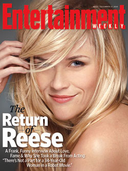 Reese Witherspoon Talks Divorce and Dating Nonactors in Entertainment Weekly 2010-12-09 10:00:00