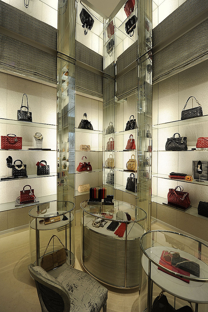 An entire room filled with Dior clutches and bags.