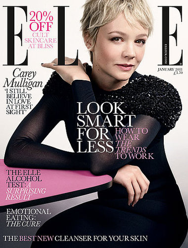 Pictures of Carey Mulligan on January 2011 Cover of UK Elle Magazine