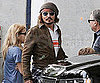 Slide Picture of Johnny Depp at the Miami Dolphins Football Game