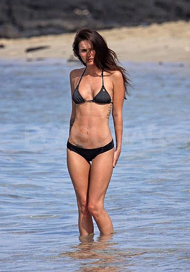 Megan Fox Wears a Skimpy Bikini on Christmas Getaway With BAG