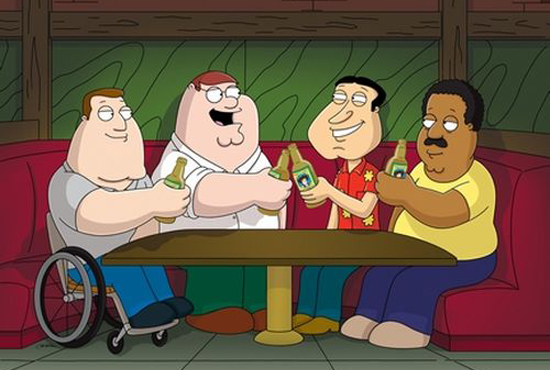 The Drunken Clam on Family Guy