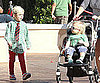Slide Picture of Kingston and Zuma Rossdale in LA