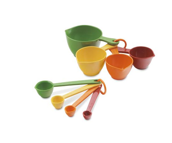 Colorful Measuring Cups and Spoons