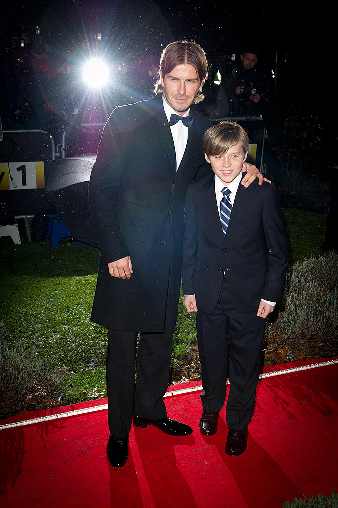 David and Brooklyn Make a Dashing Red Carpet Duo