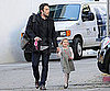 Slide Picture of Ben Affleck and Violet Affleck Walking in LA