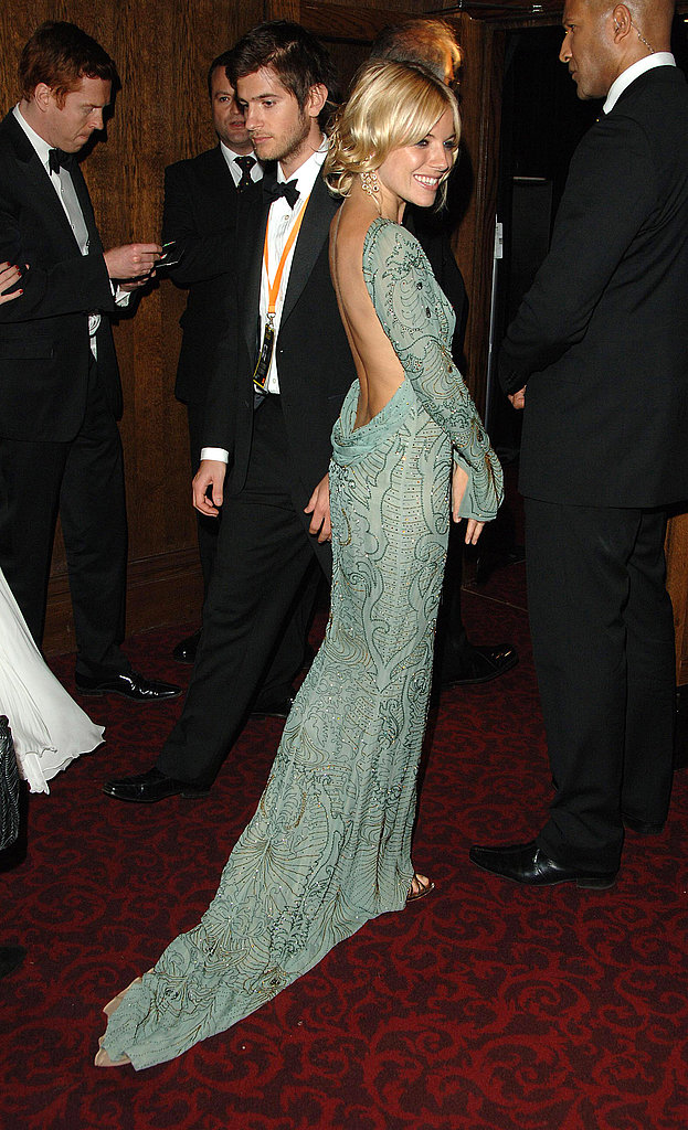 She was a backless beauty at the British Academy Film Awards in 2007.